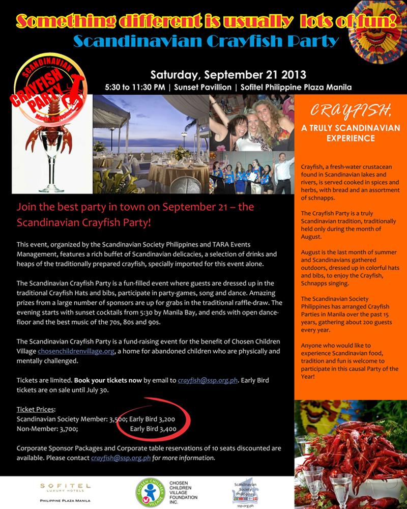 Scandinavian Crayfish Party Poster