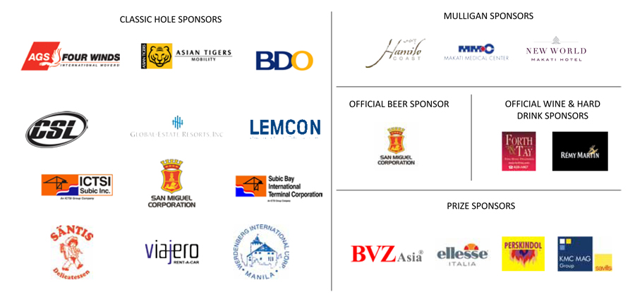 ECCP Annual Golf Challenge 2014 Sponsors