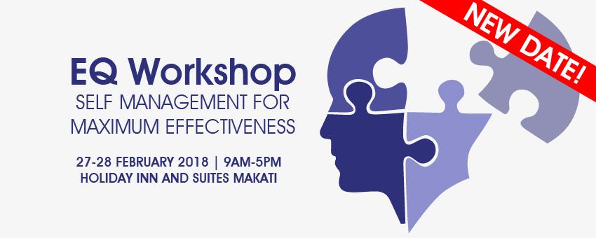 EQ Workshop: Self Management for Maximum Effectiveness
