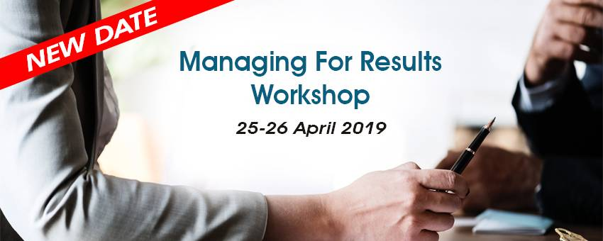 [New Date] Managing For Results Workshop
