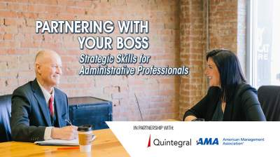 Partnering with your Boss: Strategic Skills for Administrative Professionals