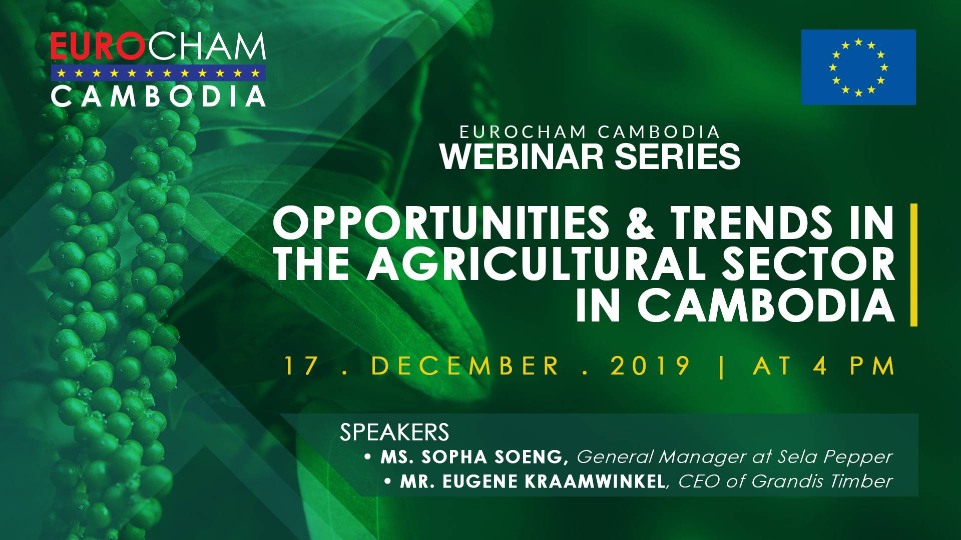 Opportunities and Trends in the Agricultural Sector in Cambodia
