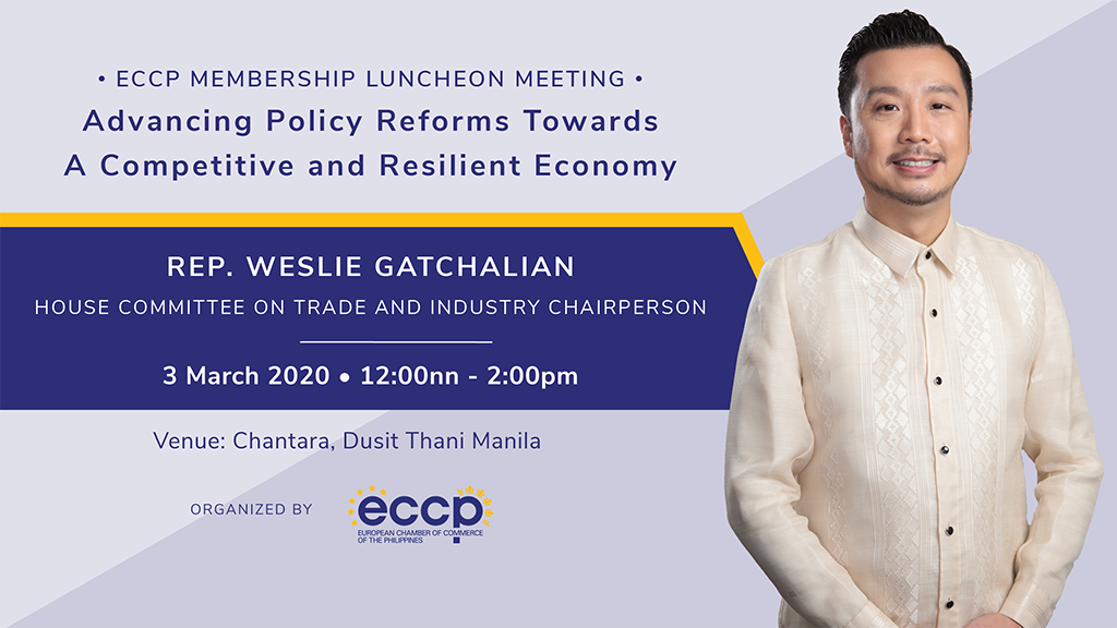 Membership Luncheon Meeting with Rep. Weslie Gatchalian