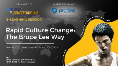 ECCP e-Learning Session   Rapid Culture Change: The Bruce Lee Way