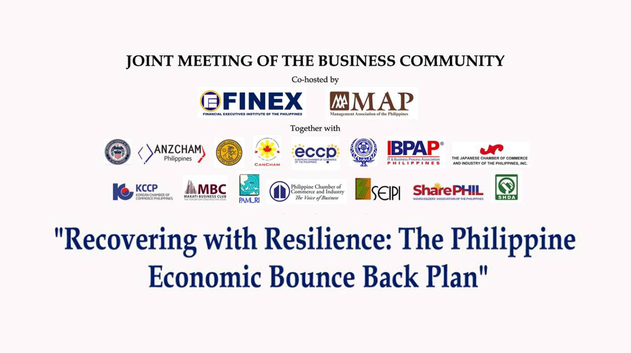 RECOVERING WITH RESILIENCE: The Philippine Economic Bounce Back Plan