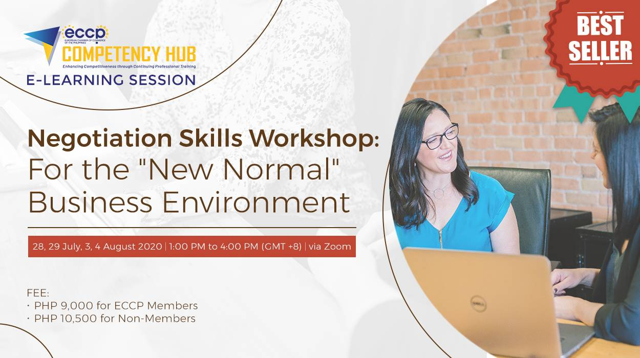"""Negotiation Skills Workshop: For the """"New Normal"""" Business Environment"""