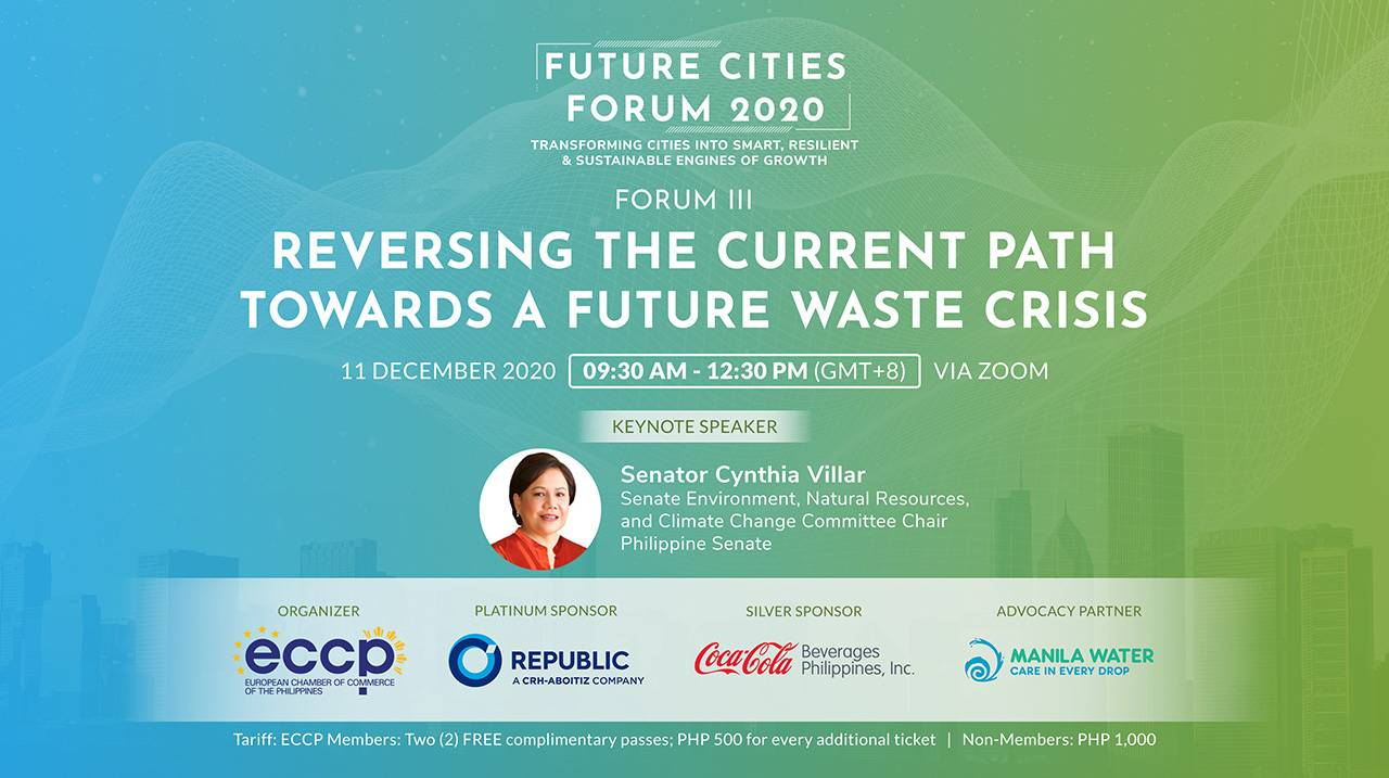 FUTURE CITIES FORUM 3: Reversing the Current Path Towards A Future Waste Crisis