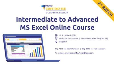 Intermediate to Advanced MS Excel Online Course (2nd Batch)