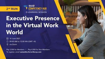 ECCP e-Learning session: Executive Presence in the Virtual Work World (2nd run)