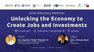 Joint Advocacy Webinar: Unlocking the Economy to Create Jobs & Investments