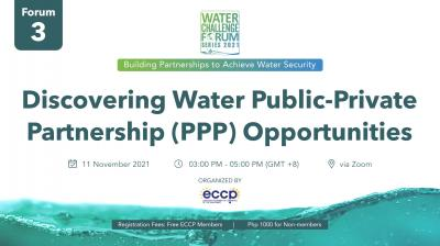 WCF 2021 Series: Discovering Water Public-Private Partnership (PPP) Opportunities