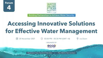 WCF 2021 Series: Accessing Innovative Solutions for Effective Water Management