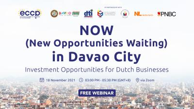 NOW (New Opportunities Waiting) in Davao City: Investment Opportunities for the Dutch Businesses
